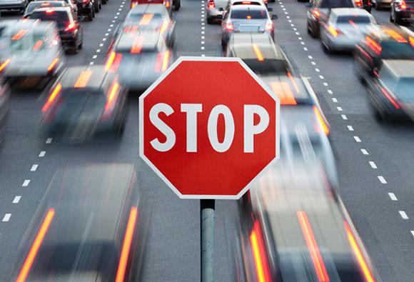 فرآیند توقف خودرو
