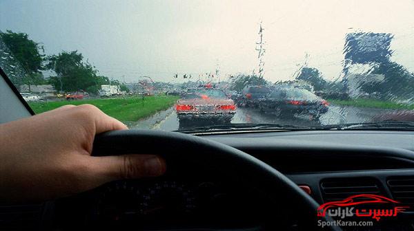 نکات مهم رانندگی در هوای بارانی ، مه آلود و جاده لغزنده