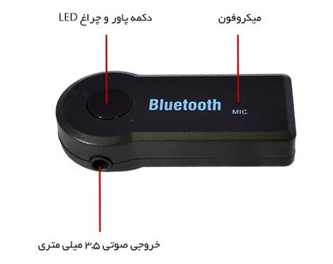 BT-Receiver دانگل بلوتوث ضبط خودرو مدل